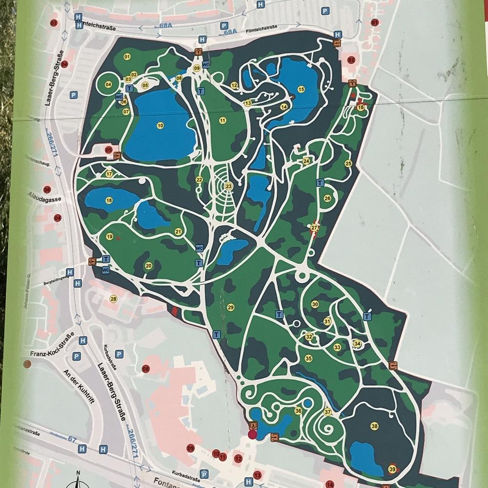 Übersichtsplan Kurpark Oberlaa