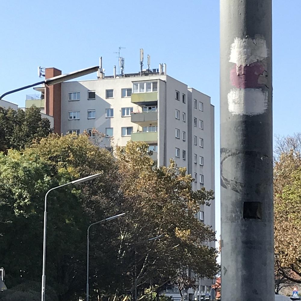 rundumdum-Markierung im Siedlungsgebiet