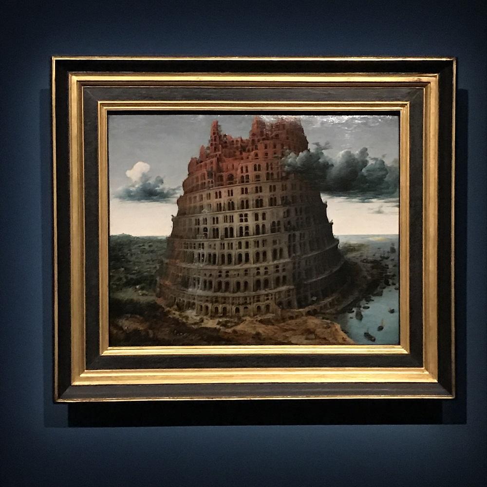 Pieter Bruegel d. Ä. (um 1525/30 vermutlich in Breugel oder Antwerpen ‒ 1569 Brüssel) Turmbau zu Babel Nach 1563?, Eichenholz, 59,9 × 74,6 cm Rotterdam, Museum Boijmans Van Beuningen © Museum Boijmans Van Beuningen