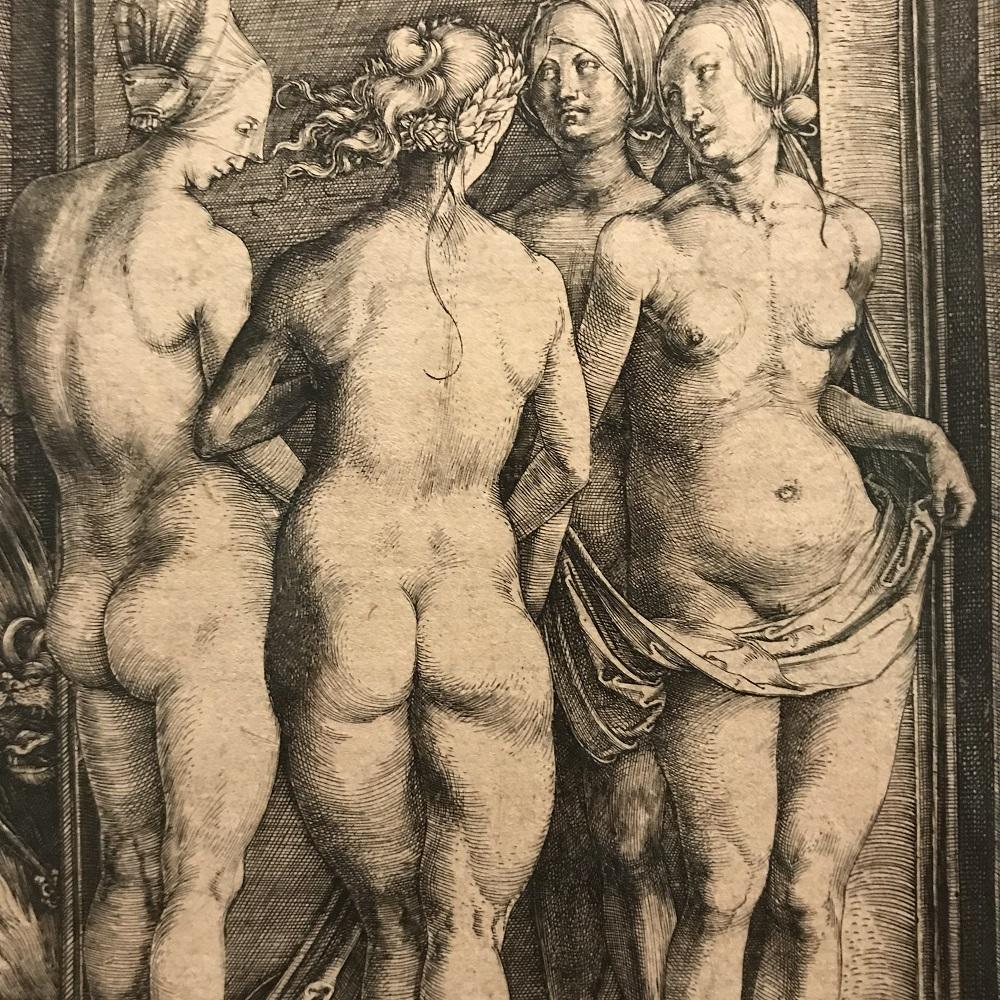 Die vier Hexen - Kupferstich von Albrecht Dürer