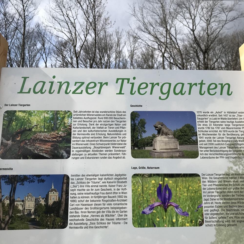 Schautafel Lainzer Tiergarten