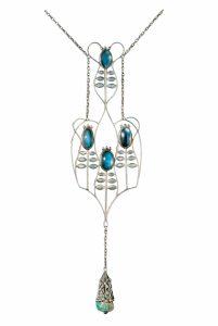 KOLOMAN MOSER, Ausführung: Wiener Werkstätte Halskette, von Gustav Klimt für Emilie Flöge erworben, 1905 © Sammlung Grubman Foto: Courtesy Galerie bei der Albertina, Zetter, Wien