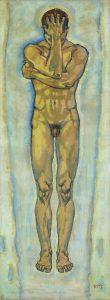 Koloman Moser, Männlicher Akt (gelb und blau), um 1913 Privatbesitz © Belvedere, Wien Vienna/Johannes Stoll