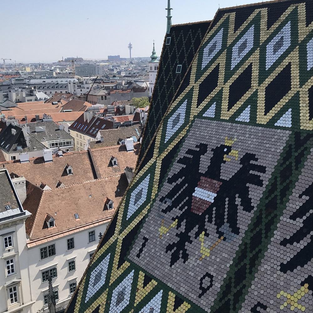 Blick vorbei am Dach Richtung Südosten