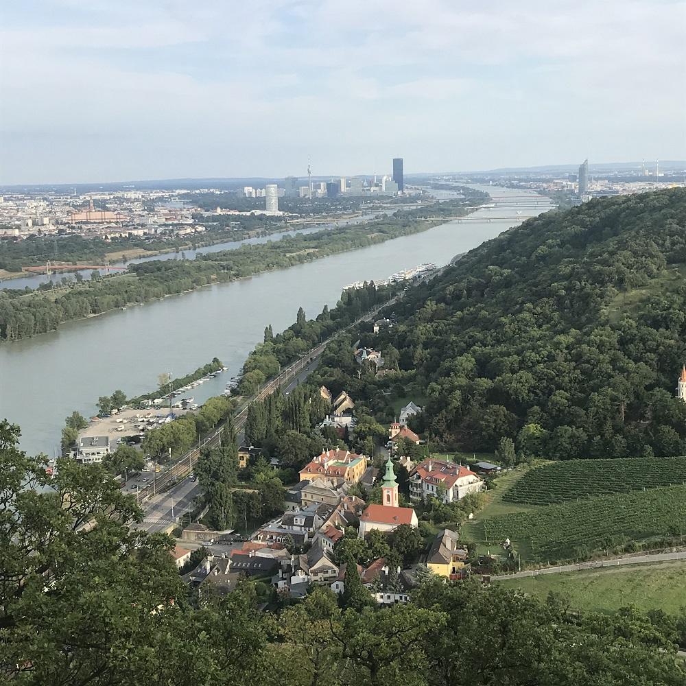 Blick vom Leopoldsbergauf Wien