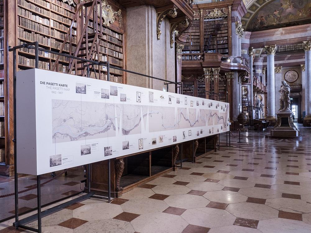 Die Pasetti-Karte im Prunksaal / Foto: Virgil Widrich, 2021
